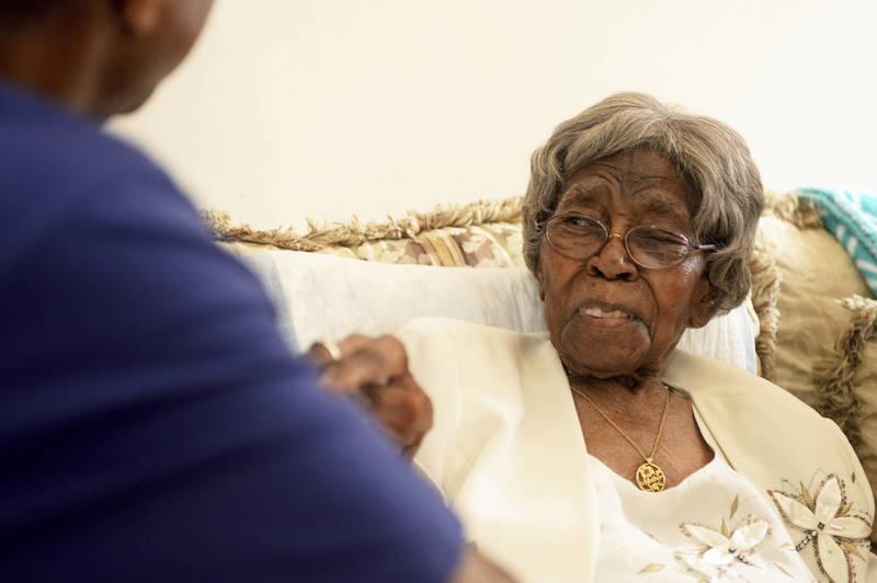 美國最年長人瑞,116歲的海絲特(Hester Ford)於當地時間17日在家中安詳逝世。(美聯社)