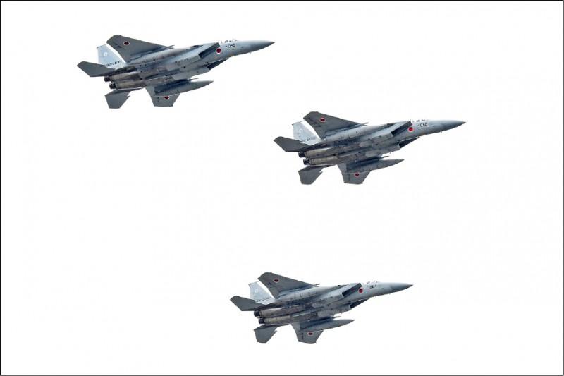 日本航空自衛隊與美舉行「聯合防空戰鬥訓練」。(法新社檔案照)