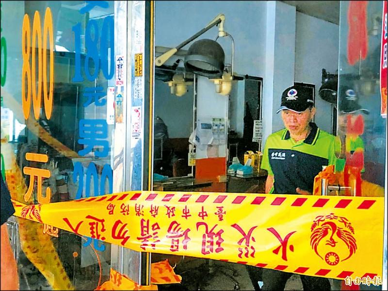 台中市暗夜惡火奪走三名孩童性命,消防局火調科重回火場鑑識。(記者許國楨攝)