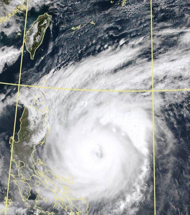 今年第2號颱風舒力基強度雖強,卻不被認為將為台灣帶來降雨。(擷取自中央氣象局)