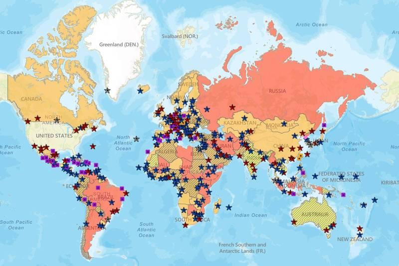 國務院目前已將全球34個國家列入第4級「不要旅行」的最高級別,若提升到80%,將再暴增130多國被納入。(圖翻攝自美國國務院官網)