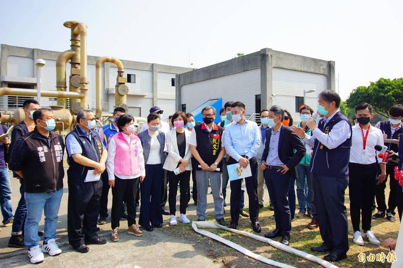 立法院經濟委員會到台中市視察福田水資源回收中心。(記者何宗翰攝)