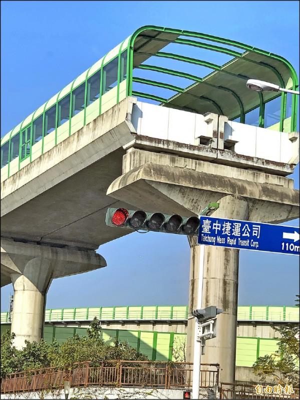 捷運可見已預留延伸到大坑的出口。(記者唐在馨攝)