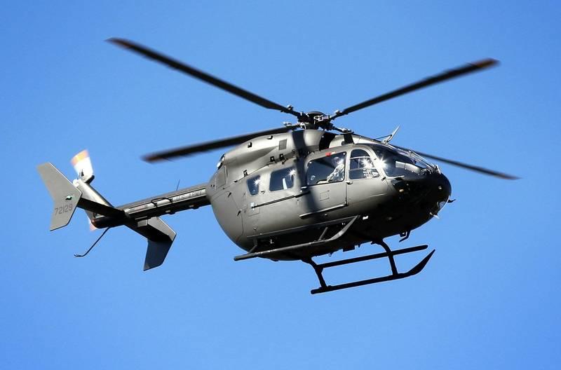 美軍一架UH-72直升機在訓練時發生墜機意外。(法新社)
