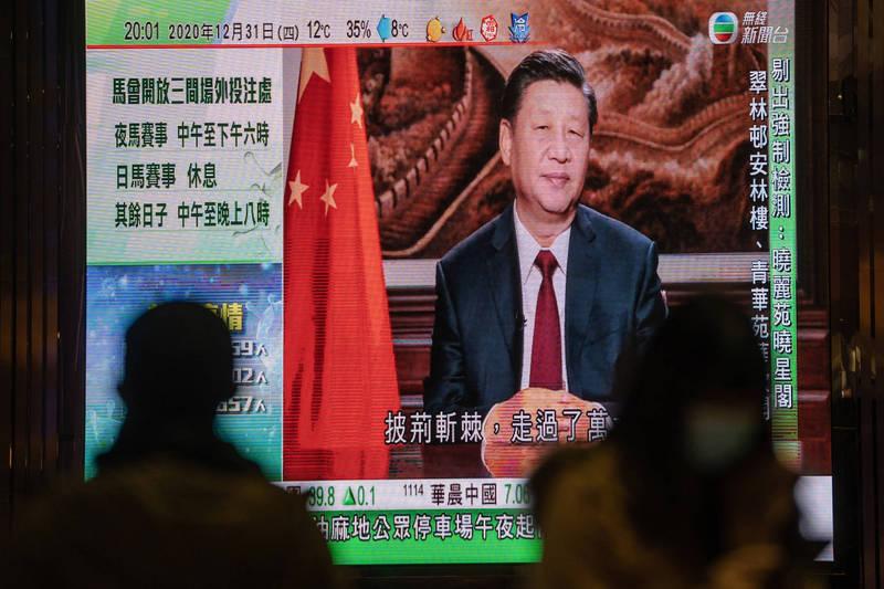 中國打壓新疆引發人權問題,卻不斷利用大外宣當作「遮羞布」。圖為中國國家主席習近平。(彭博資料照)