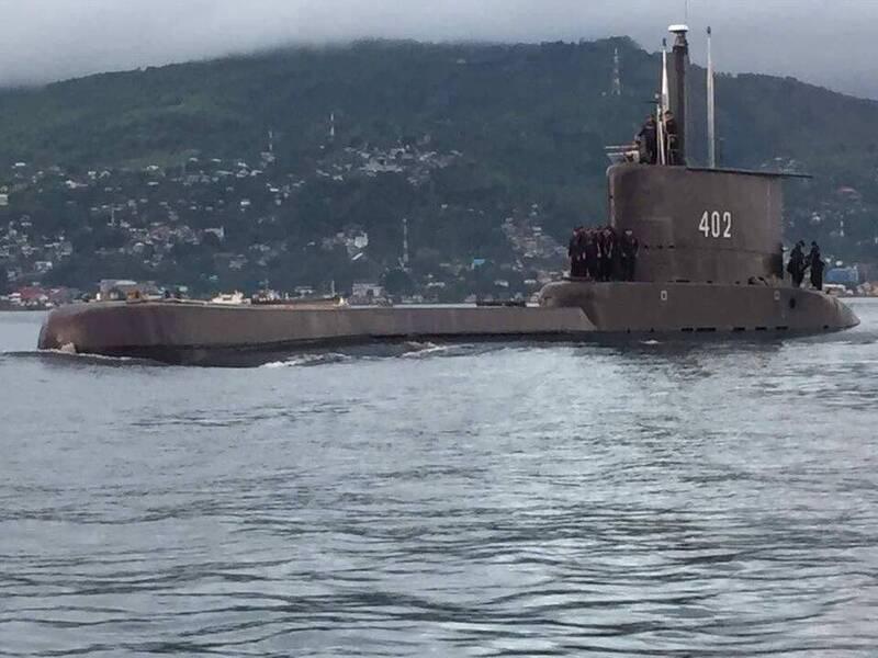 載有53人的印尼潛艇KRI Nanggala-402在參加演訓時失聯。(圖取自臉書Pusat Penerangan TNI)