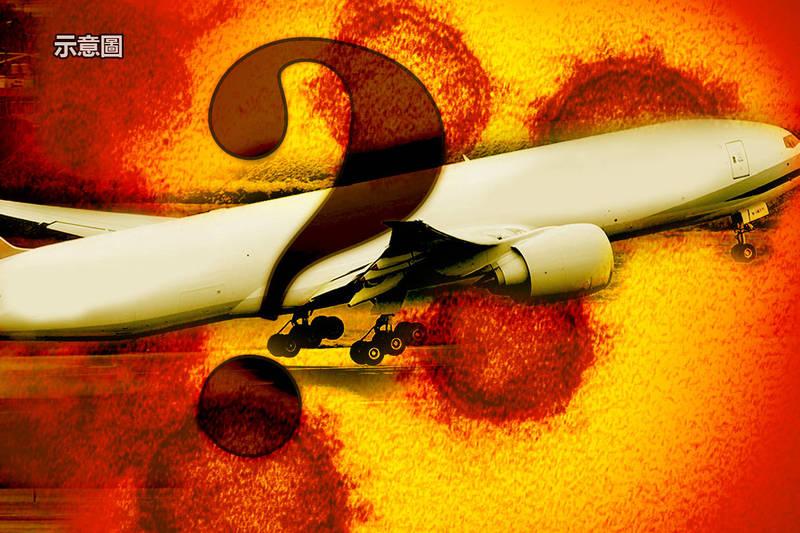 20日新增2名國籍航空公司的貨機機師確診,感染源仍待釐清,目前接觸者檢測後均為陰性。(本報合成)
