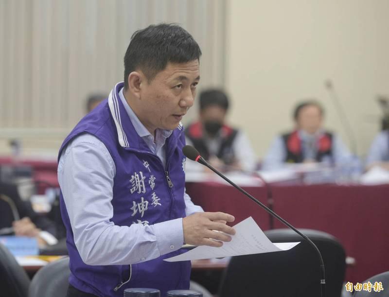 國民黨中常委謝坤宏。(記者張嘉明攝)