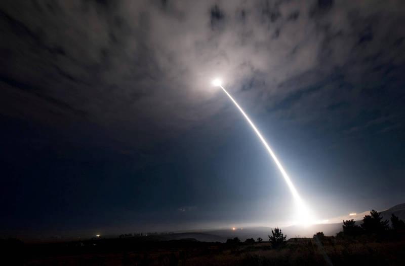 美將領警告,中俄的核武發展速度快過美國。圖為美義勇兵洲際彈道飛彈。(路透)