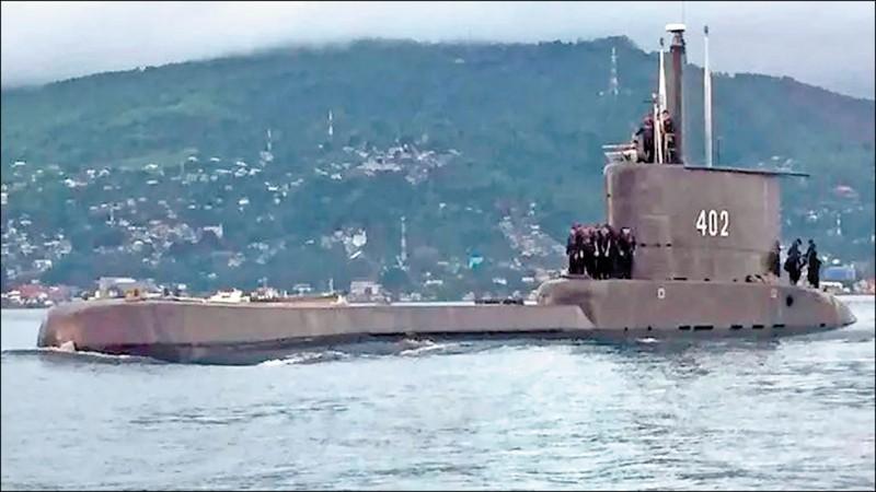 印尼一艘載有53名官兵的柴電動力潛艦在峇里島(Bali)北方海域進行魚雷演習時失聯。(取自網路)