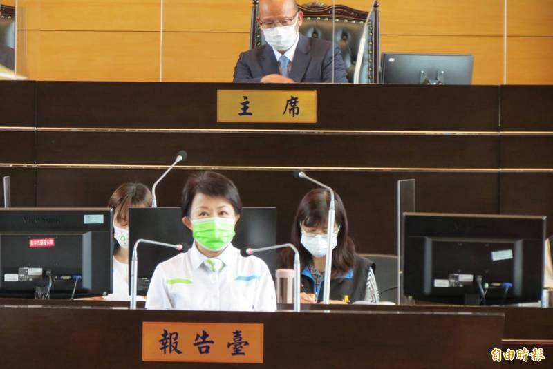 市長盧秀燕表示,台中肉品市場會在北區原址活化改建,不會遷到烏日。(記者蘇金鳳攝)