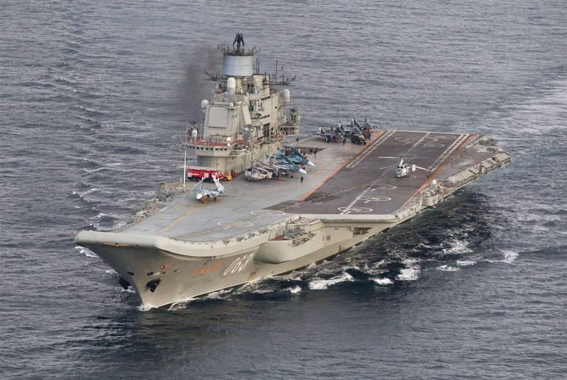 消息人士和俄羅斯官媒透露,俄國海軍唯一的航空母艦「庫茲涅佐夫號」,維修完成後,將於2022年下海測試。(歐新社)