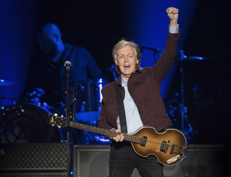包含保羅·麥卡尼(Paul McCartney)等150名英國歌手向首相發表公開信,盼可捍衛音樂創作權益。(美聯社)