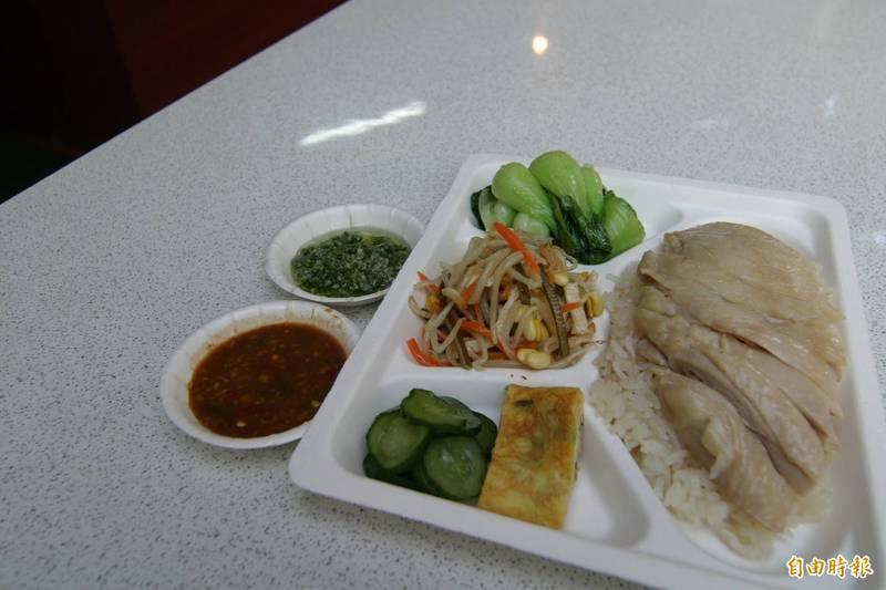 海南雞飯示意圖。(資料照)