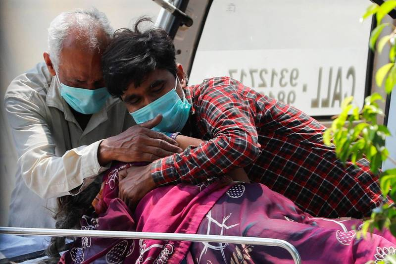 印度武漢肺炎病例暴增,更傳出有新變種病毒「B.1.617」在當地肆虐。(路透)