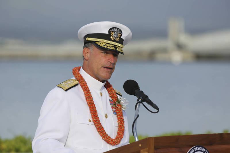 美國參議院21日全票通過海軍上將阿基利諾(John Aquilino)就任美軍印太司令案。(美聯社)