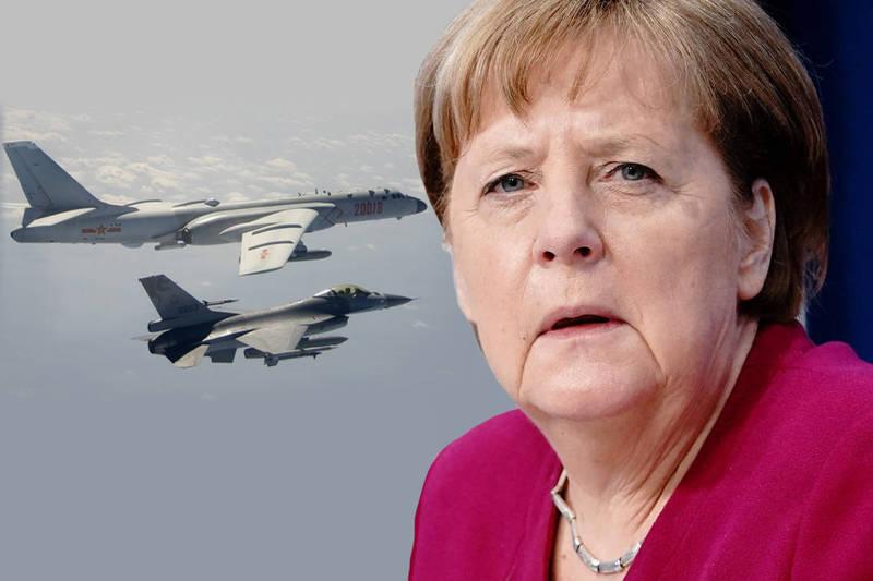 德國總理梅克爾(Angela Merkel)20日在歐洲理事會(Council of Europe)表示,「台灣正在發生的事情,軍事衝突可能再次出現。」。(本報合成)