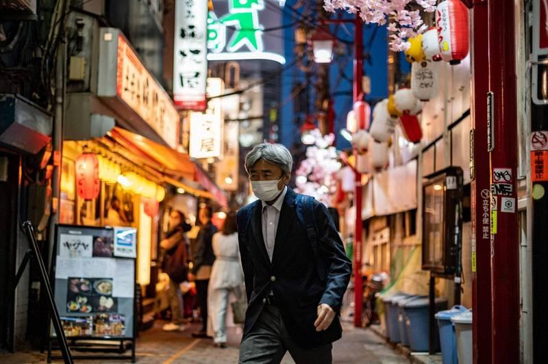 大阪連續4天新增破千例,東京都今天新增759例,圖為東京街景。(法新社)