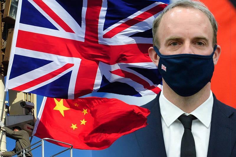 英國外交大臣拉布宣布,2021至2022年度海外發展援助(ODA)資金,只給中國90萬英鎊,比過去大減95%。(本報合成)