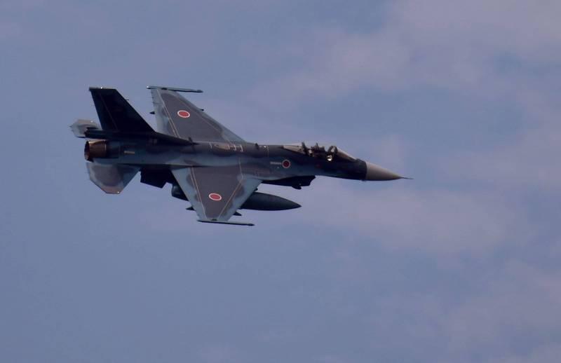 日本航空自衛隊2架F2戰機今天下午在空中發生擦撞意外,所幸機上3人皆沒有受傷。(法新社)