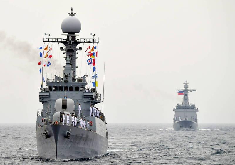 南韓海軍一艘艦艇近日傳出32人確診武肺,此為南韓海軍艦艇示意圖,與新聞提及人事物無關。(歐新社)