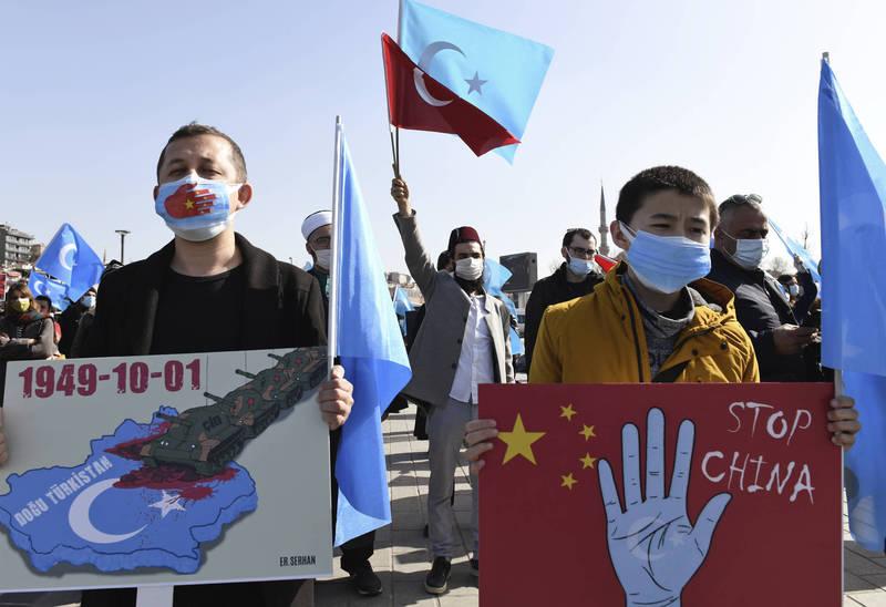 英國會認定中國對新疆維族犯下種族屠殺罪行。(美聯社)