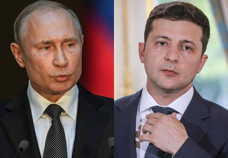 Russian President Putin (left) invited Uzbek President Zelensky to meet in Moscow.  (AFP)
