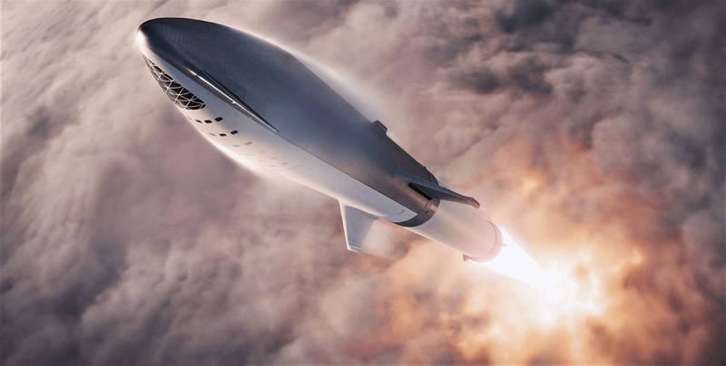 SpaceX積極發展殖民火星計畫。示意圖。(法新社)