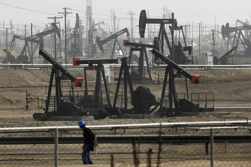 加州目標在2045年禁止開採石油。(美聯社)
