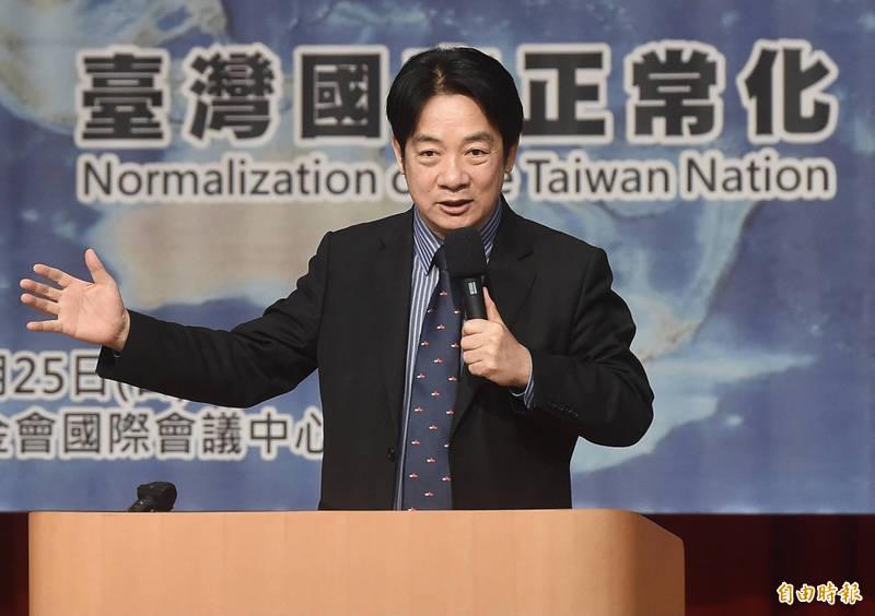 賴清德:台灣是主權獨立國家「與中國互不隸屬」