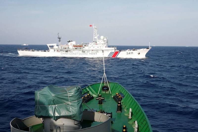 2014年,中國和越南因為西沙群島中建島海域石油探勘問題,兩國關係嚴重惡化,越南境內更掀起嚴重的反中暴動。(路透檔案照)