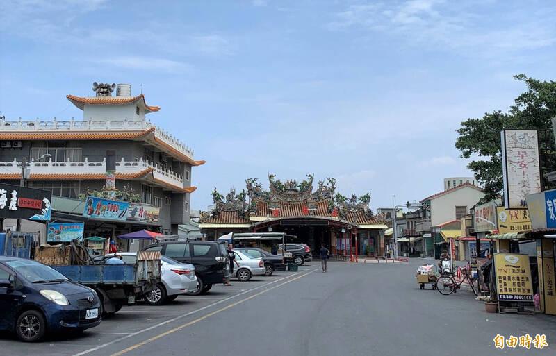 北門永隆宮前的廣場劃設為商業區,並留設廣場。(記者楊金城攝)