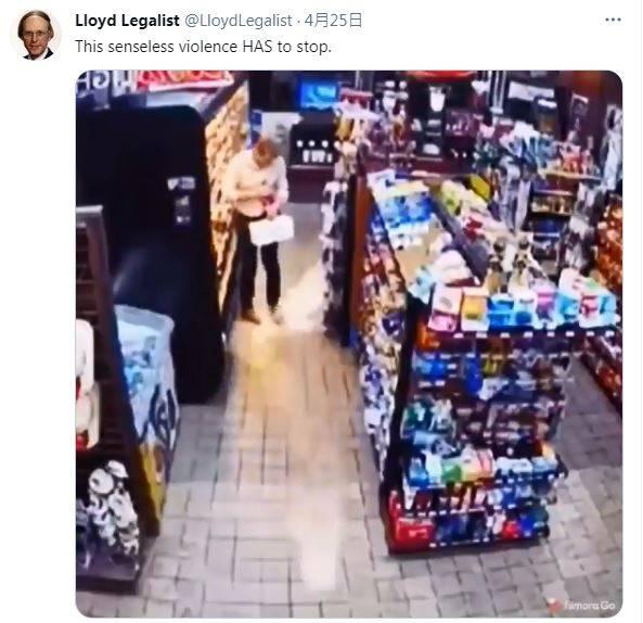 顧客手一滑,可樂墜地竟瞬間成「暴衝火箭」。(圖擷取自推特)