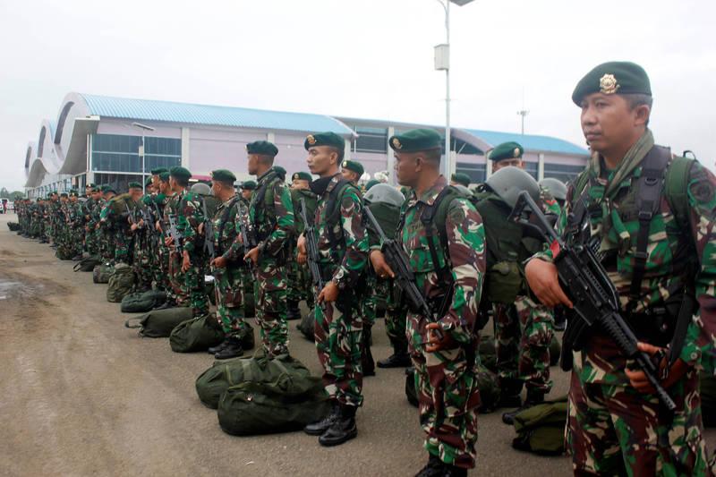 印尼國家情報局巴布亞區局長艾古斯提日前遭巴布亞分離主義者擊斃,是印尼與巴布亞武裝衝突遇害的最高階軍官。(印尼軍隊示意圖,路透)