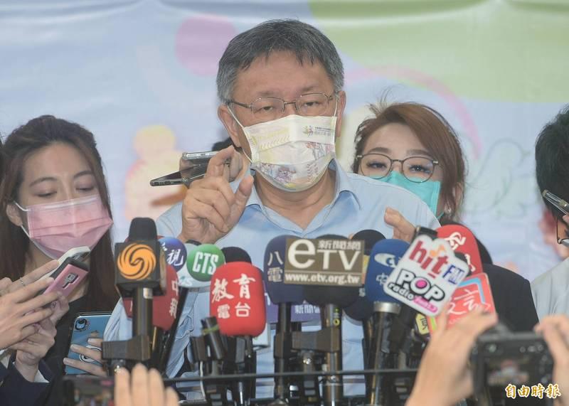 台北市長柯文哲不悅表示,一開始就不相信警方說法,認為是心存大事化小、小事化無心態想湮滅證據,違反正直誠信要求,「被逮到就更慘。」(記者張嘉明攝)