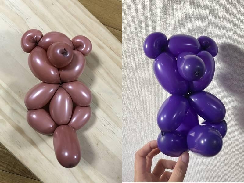 網友笑稱自己折出的小熊有「巨根」。(圖取自推特「@posoi」)