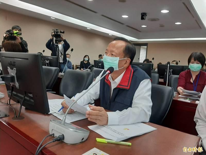 北市警局長陳嘉昌今於市議會報告。(記者郭安家攝)