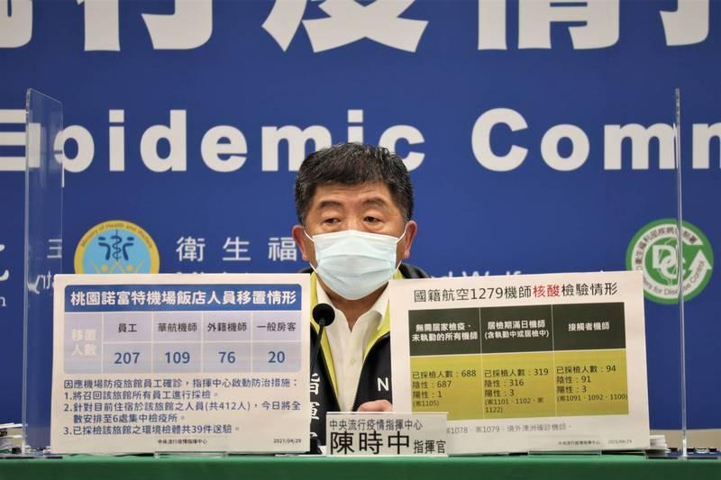 國內昨新增1例武漢肺炎案1112,中央流行疫情指揮中心指揮官陳時中今日表示,該名個案接觸者111人,已採檢39人,其中3人陰性,其餘檢驗中。(圖由指揮中心提供)