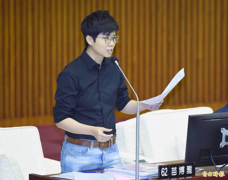 社民黨台北市議員苗博雅。(記者廖振輝攝)
