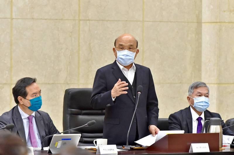 防疫期統測、會考將至,行政院長蘇貞昌指示安排特殊考場。(圖:行政院提供)