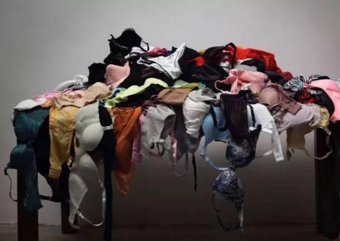 有中國網友爆料,在參與一個名為「ARTCLOUD藝術雲」的藝術作品比賽投票時,赫然發現一件作品作者自爆是用在北京偷盜所得的197件內衣作為素材。(擷取自微博)