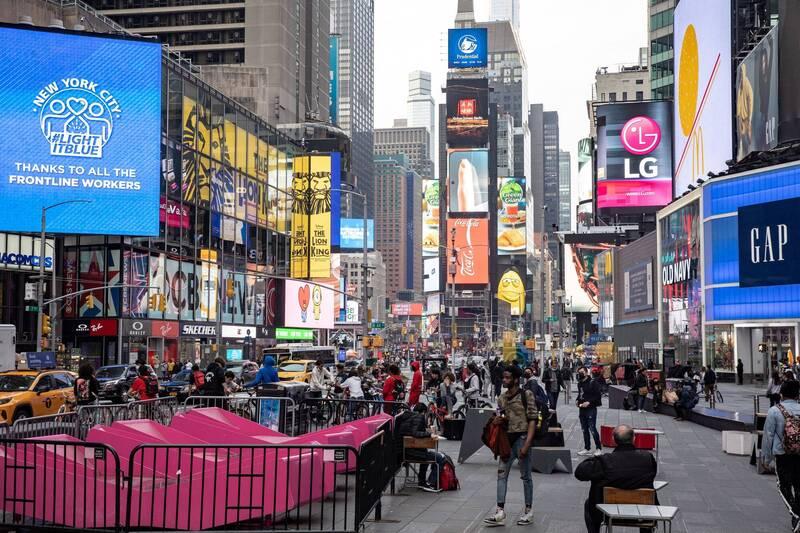 市長白思豪表示,紐約市計畫7月1日起全面重新開放。(路透)