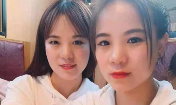 中國女子在抖音上滑到和她長得一模一樣的人,後來才發現是雙胞胎姐妹。(圖翻攝自微博)