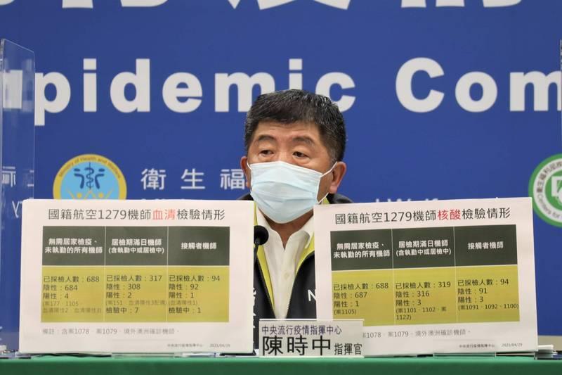 中央流行疫情指揮中心指揮官陳時中今日接受廣播媒體採訪時表示,預計將針對全台防疫旅館進行總體檢,且公費疫苗下週擬擴大接種對象至防疫旅館人員親屬。(資料照)