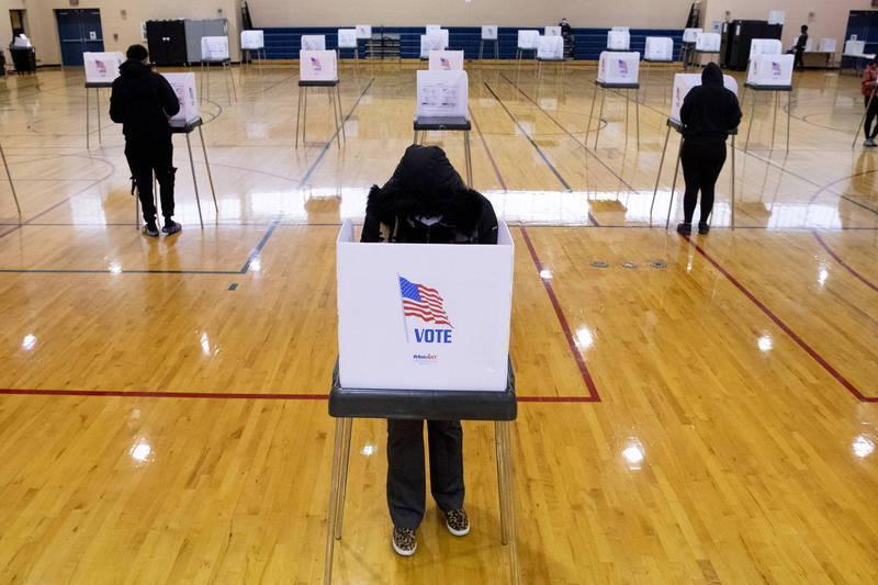 美國大選投票示意圖。(歐新社)