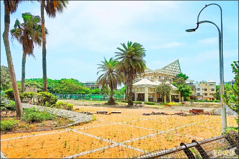 鹿港生態公園變「蚊子公園」,彰化縣府花1800萬元進行大改造。(記者劉曉欣攝)
