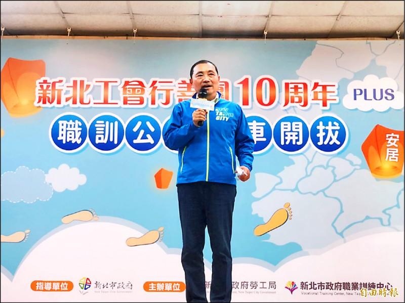 新北市長侯友宜表示,掩蓋事實,影響警察執法威信。(記者周湘芸攝)