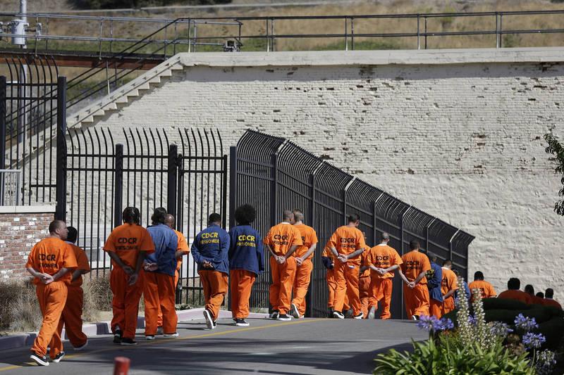 美國加州政府提前假釋7萬6千人,其中包含重罪與無期徒刑內刑人。(美聯社)