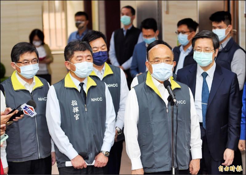 行政院長蘇貞昌昨受訪表示,中國對台灣安全造成最大危害,但若台灣能夠讓世界需要,就會更安全。 (記者劉信德攝)