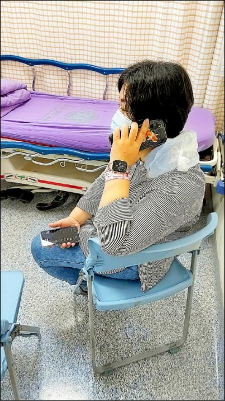 副議長顏莉敏在臉書po文表示,目前在醫院等候檢查,謝謝大家關心。(擷取自顏莉敏臉書)